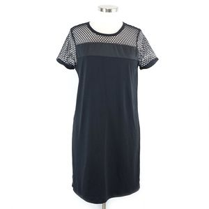 Fabletics Sarah Black Mesh Sheath Tee Dress